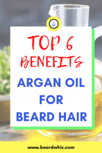argan oil in beard